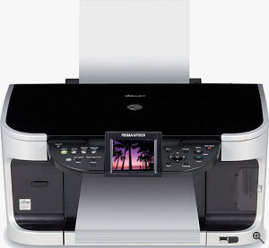 Canon's PIXMA MP800R all-in-one, courtesy of Canon, with modifications by Michael R. Tomkins. Click for a bigger picture!