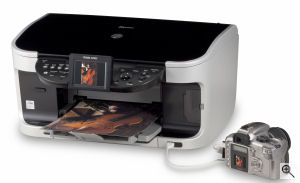 Canon's PIXMA MP800 printer. Courtesy of Canon, with modifications by Michael R. Tomkins. Click for a bigger picture!