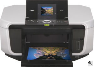 Canon's PIXMA MP810 printer. Courtesy of Canon, with modifications by Michael R. Tomkins. Click for a bigger picture!