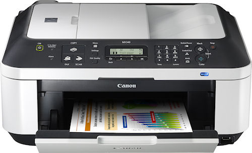 Canon's PIXMA MX340 Wireless Office All-in-One printer. Photo provided by Canon U.S.A. Inc. Click for a bigger picture!