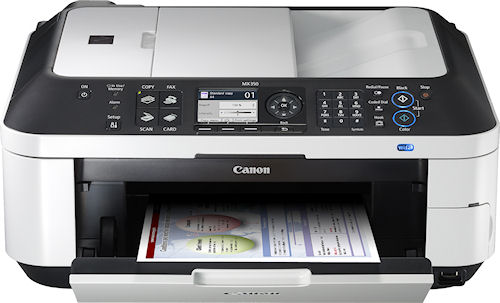 Canon's PIXMA MX350 Wireless Office All-in-One printer. Photo provided by Canon U.S.A. Inc. Click for a bigger picture!