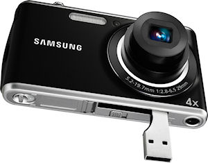 Samsung's PL90 digital camera. Photo provided by Samsung Electronics Co. Ltd. Click for a bigger picture!