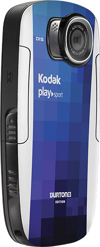Kodak's PlaySport Burton Edition video camera. Photo provided by Eastman Kodak Co. Click for a bigger picture!