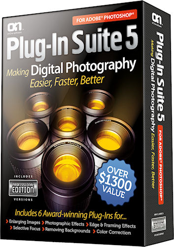 Plug-In Suite 5 product packaging. Photo provided by onOne Software. Inc. Click for a bigger picture!