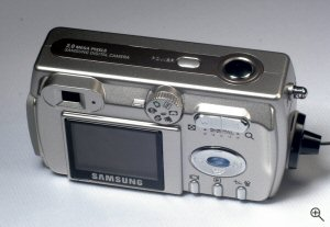 Samsung's Digimax 202 digital camera. Copyright © 2004, The Imaging Resource. All rights reserved. Click for a bigger picture!