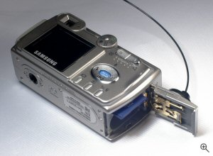 Samsung's Digimax 301 digital camera. Copyright © 2004, The Imaging Resource. All rights reserved. Click for a bigger picture!
