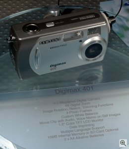 Samsung's Digimax 401 digital camera. Copyright © 2004, The Imaging Resource. All rights reserved. Click for a bigger picture!