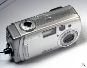 Samsung's Digimax 530 digital camera. Copyright © 2004, The Imaging Resource. All rights reserved. Click for a bigger picture!