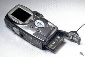 Samsung's Digimax U-CA3 digital camera. Copyright © 2004, The Imaging Resource. All rights reserved. Click for a bigger picture!