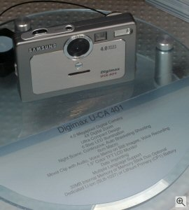Samsung's Digimax U-CA 401 digital camera. Copyright © 2004, The Imaging Resource. All rights reserved. Click for a bigger picture!