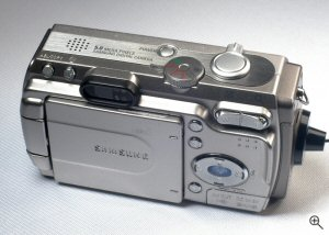 Samsung's Digimax V5 digital camera. Copyright © 2004, The Imaging Resource. All rights reserved. Click for a bigger picture!