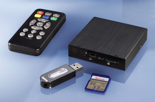 Hama's PMP10 media player. Photo provided by Hama GmbH & Co KG. Click for a bigger picture!