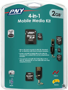 PNY's 4-in-1 Media Kit. Courtesy of PNY, with modifications by Michael R. Tomkins. Click for a bigger picture!