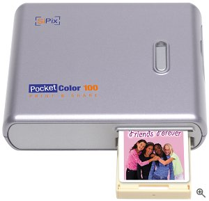 SiPix's PocketColor 100 printer. Courtesy of SiPix Inc., with modifications by Michael R. Tomkins. Click for a bigger picture!