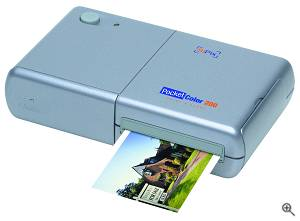 SiPix's PocketColor 200 portable thermal transfer printer. Courtesy of SiPix. Click for a bigger picture!