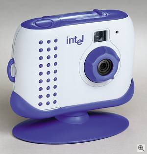 Intel's Pocket PC Camera, front right quarter view.  Courtesy of Intel Corp. - click for a bigger picture!
