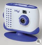 Intel's Pocket PC Camera, front left quarter view.  Courtesy of Intel Corp. - click for a bigger picture!