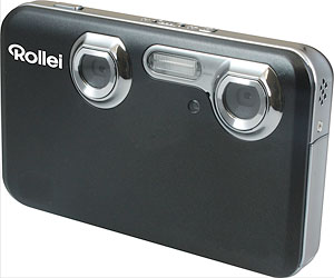 Rollei's Powerflex 3D digital camera. Photo provided by Rollei. Click for a bigger picture!