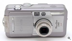 Canon's PowerShot S40 digital camera. Copyright © 2001, The Imaging Resource. All rights reserved. Click for a bigger picture!