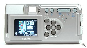 Canon's PowerShot A200 digital camera. Copyright © 2002, The Imaging Resource. All rights reserved. Click for a bigger picture!