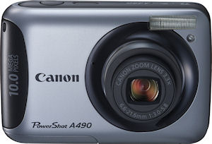 Canon's PowerShot A490 digital camera. Photo provided by Canon. Click for a bigger picture!