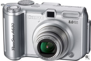 Canon's PowerShot A630 digital camera. Courtesy of Canon, with modifications by Michael R. Tomkins. Click for a bigger picture!