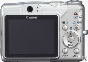 Canon's PowerShot A700 digital camera. Courtesy of Canon, with modifications by Michael R. Tomkins. Click for a bigger picture!