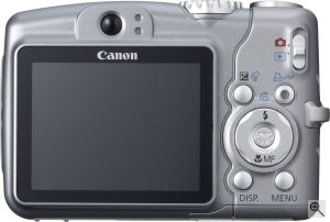 Canon's PowerShot A710 digital camera. Courtesy of Canon, with modifications by Michael R. Tomkins. Click for a bigger picture!