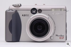 Canon's PowerShot G3 digital camera. Copyright © 2002, The Imaging Resource. Click for a bigger picture!