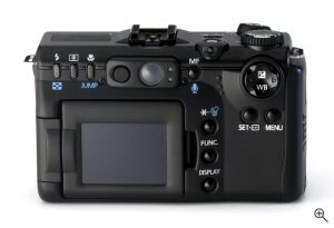 Canon's PowerShot G5 digital camera. Courtesy of Canon, with modifications by Michael R. Tomkins.