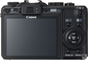 Canon's PowerShot G9 digital camera. Courtesy of Canon, with modifications by Michael R. Tomkins. Click for a bigger picture!