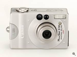 Canon's Powershot S110 digital camera, front  view. Courtesy of Canon. Click for a bigger picture!