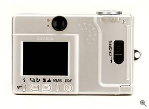 Canon's Powershot S110 digital camera, rear  view. Courtesy of Canon. Click for a bigger picture!