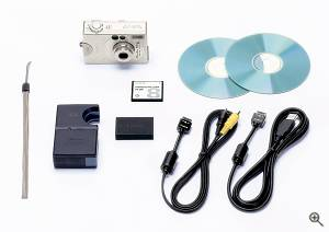 Canon's Powershot S110 digital camera shown with  bundled accessories. Courtesy of Canon. Click for a bigger picture!