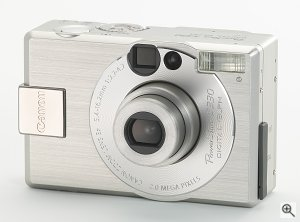 Canon's PowerShot S330 digital camera. Courtesy of Canon, with modifications by Michael R. Tomkins.
