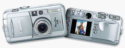 Canon's PowerShot S45 digital camera. Courtesy of Canon, with modifications by Michael R. Tomkins