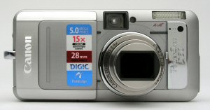 Canon's PowerShot S60 digital camera. Copyright © 2004, The Imaging Resource. All rights reserved. Click for a bigger picture!