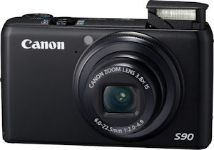 Canon's PowerShot S90 digital camera. Photo provided by Canon USA Inc. Click for a bigger picture!