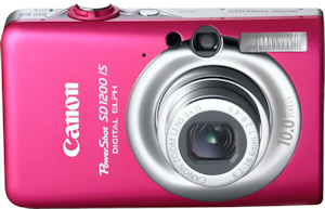 Canon's PowerShot SD1200 IS. Photo provided by Canon USA Inc. Click for a bigger picture!