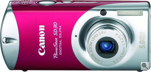 Canon's PowerShot SD30 Digital ELPH. Courtesy of Canon, with modifications by Michael R. Tomkins. Click for a bigger picture!