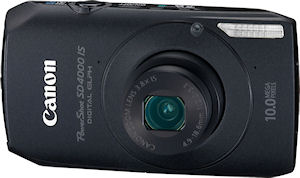 Canon's PowerShot SD4000 IS digital camera. Photo provided by Canon USA Inc. Click for a bigger picture!