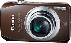 Canon's PowerShot SD4500 IS digital camera. Photo provided by Canon USA Inc. Click for a bigger picture!