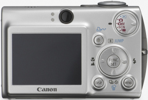 Canon's PowerShot SD500 Digital ELPH. Courtesy of Canon, with modifications by Michael R. Tomkins. Click for a bigger picture!