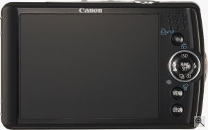 Canon's PowerShot SD630 digital camera. Courtesy of Canon, with modifications by Michael R. Tomkins. Click for a bigger picture!