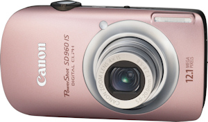 Canon's PowerShot SD960 IS. Photo provided by Canon USA Inc. Click for a bigger picture!