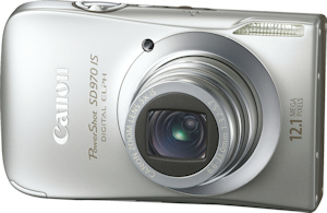 Canon's PowerShot SD970 IS. Photo provided by Canon USA Inc. Click for a bigger picture!