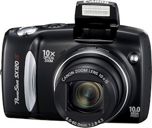 Canon's PowerShot SX120 IS digital camera. Photo provided by Canon USA Inc. Click for a bigger picture!