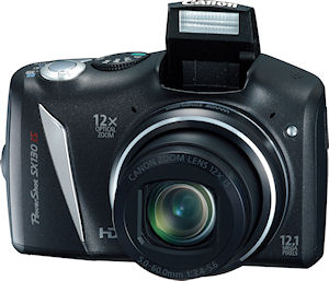 Canon's PowerShot SX130 IS digital camera. Photo provided by Canon USA Inc. Click for a bigger picture!