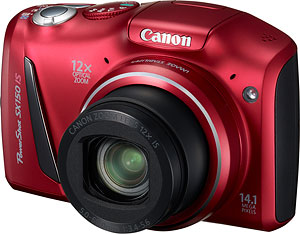 Canon's PowerShot SX150 IS digital camera. Image provided by Canon USA Inc. Click for a bigger picture!