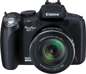 Canon's PowerShot SX1 IS. Photo provided by Canon USA Inc. Click for a bigger picture!